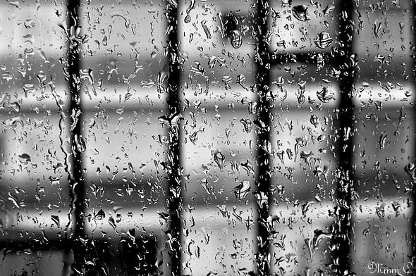 La pluie - N&B